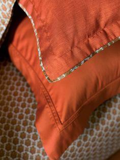 Detail, Pillow Shams Kacho-Ga Bed Linens by #YvesDelorme. http://www.yvesdelorme.com/p/b/kachoga-bed.html