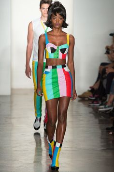 so fun and 60s - Jeremy Scott Spring 2014 Ready-to-Wear Collection Slideshow on Style.com