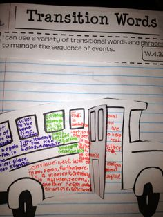 The Best Ways to Teach Revising- Interactive Notebook.  This blog post gives effective ideas for revising narrative writing including transition words!