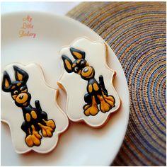 Toy terrier cookies