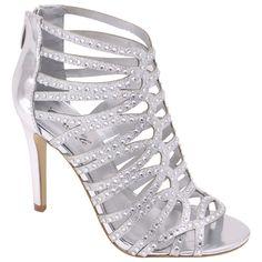 50c28e2f063b3 New Silver High Heel Sandal Bridal Prom Wedding Formal Shoes Strappy  Rhinestone