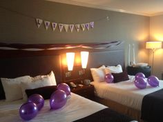 Bachelorette Party hotel decorations