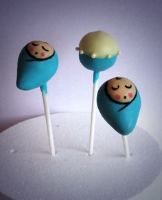 New baby boy cake pops