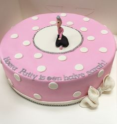 25 years old cake! A half grandma!  Made by Angelique Bond