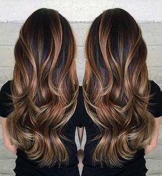 Gorgeous long brunette hair with rich blonde balayage hair color by Janai Hartt… Hair goals Hair Color Balayage, Balayage Brunette Long, Haircolor, Blonde Ombre, Rich Brunette, Balayage Bronde, Balayage On Black Hair, Balayage Asian Hair, Carmel Balayage