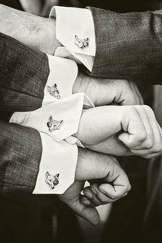 Fox cufflinks!