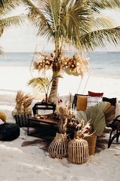 Breezy Boho Wedding Inspiration On A Secluded Beach Secluded Beach, Boho Wedding, Reception, Wedding Inspiration, Bohemian Weddings, Receptions