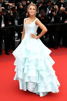 Blake Lively is slaying Cannes Festival fashion! Look at this Cinderella inspired gown!