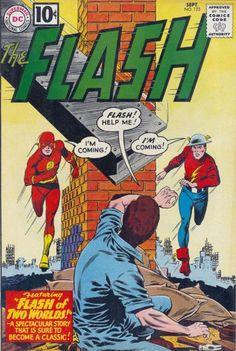 Flash of Two Worlds Si la portada de The Flash #123 te parece conocida es porque es una de las más recordadas de la historia del noveno arte. La reunión entre Barry Allen y Jay Garrick (que se creía desaparecido pero DC Comics argumentaría que siempre estuvo en Earth-Two) sería la semilla que luego derivaría en la unión de la Justice Society of América y la Justice League. Flash of Two Worlds fue solo un issue pero abrió las puertas a la noción del multiverse y desde entonces la industria no…