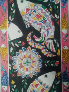 Madhubani art...Just gonna luv this art...^_^