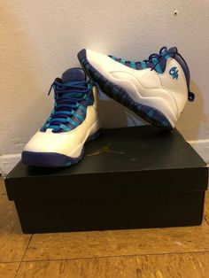 e4eef54efe5 Rare NIKE AIR JORDAN 10 RETRO BG GS CHARLOTTE HORNETS Shoes Size 6 #fashion  #