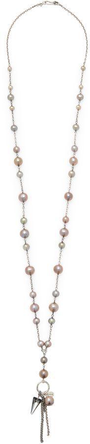 Chan Luu Women's Beads & Tassle Station Necklace