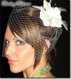 bird cage veil- I wanted one so bad for my wedding but my mom hated it :-/