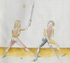Lecküchner, Hans: Kunst des Messerfechtens Nordbayern, 1482 Cgm 582 Folio 373