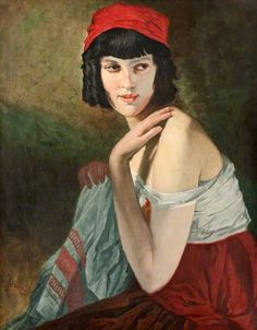 Italian Girl, 1915 by William Strang (1859-1921)  ~Repinned Via Iain