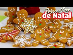 Gingerbread Cookies, Red Velvet, Merry Christmas, Good Food, Desserts, Youtube, Christmas Sugar Cookies, How To Make Crackers, Cookie Ideas