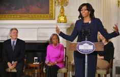 """Mrs. O hosted a workshop on the film """"42""""--about Jackie Robinson.  Behind her is Rachel Robinson and Harrison Ford."""