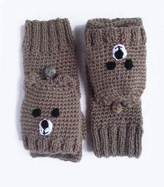 elcuadernodeideas: Manguitos de lana cara de oso