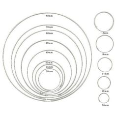 Hoop earrings size chart in millimeters jewelry pinterest