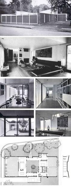 Josep Lluís Sert. House in Cambridge. 1958