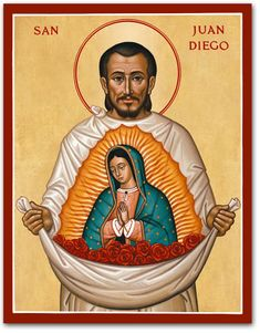 Saint icons are meant for both reflection and inspiration like this Saint Juan Diego icon, find it and others at Monastery Icons. Catholic Art, Catholic Saints, Patron Saints, Catholic Quotes, Religious Photos, Religious Art, San Juan Diego, Holy Spirit Prayer, Monastery Icons