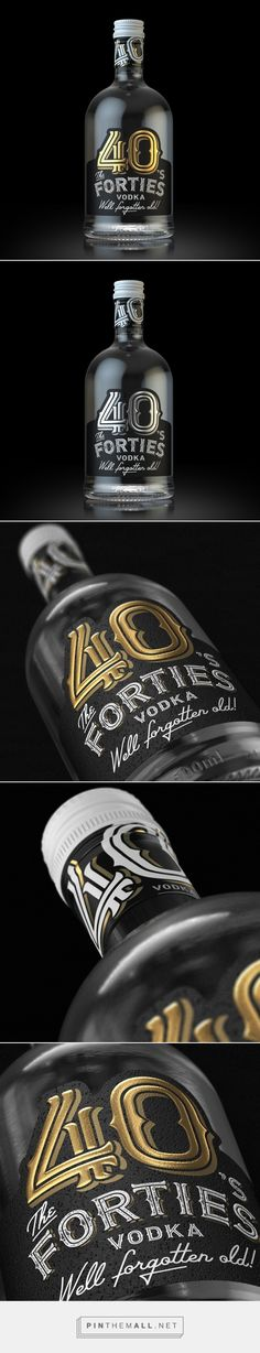 The Forties Vodka packaging design by Sergei ASVIDES - http://www.packagingoftheworld.com/2017/05/the-forties-vodka.html