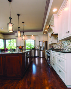 Beautiful traditional kitchen marries esthetics and efficiency.