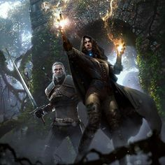 Geralt and Yennefer http://the-witcher.tumblr.com/tagged/Geralt-of-Rivia