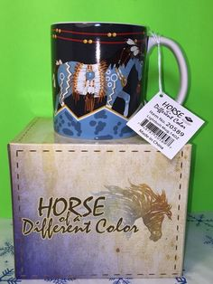 Horse Of A Different Color Lightbolt 14oz Mug By Westland Giftware New Gift | Collectibles, Kitchen & Home, Kitchenware | eBay!