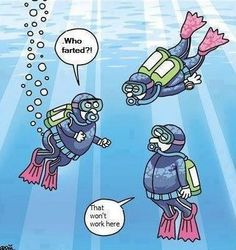 Scuba humor...they keep telling us about nitrogen leaving our bodies during class, and all I can keep thinking about is this, lol