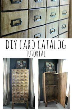 DIY Card Catalog Cabinet Tutorial.  Learn how to build your own!
