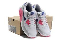 new product d9b6f dd339 Faites des emplettes pour la vente Nike Air Max 90 Chaussures Femme  Blanche Rosa Grise Achat