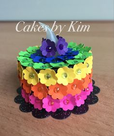 Rainbow Tea Light Cake (made by Kim)