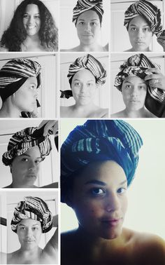 Justina Blakeney: Wrap Star: Hair wrap how-to.
