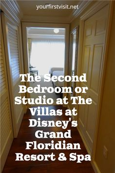 Disney Vacation Club (DVC) - A Tour of the Second Bedroom/Studio at The Villas at Disney's Grand Floridian Resort & Spa from yourfirstvisit.net #DVC #DisneyVacationClub #GrandFloridianVillas Saratoga Springs Resort, Springs Resort And Spa, Disney World Deals, Disney World Planning, Disney Vacation Club, Walt Disney World Vacations, Beach Club Resort, Resort Spa, Key West Resorts