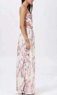 6238afce47 Cherry blossom floral maxi dress in 2019 | mariage | Floral print ...