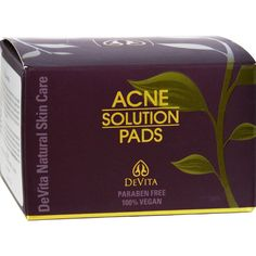 Devita Natural Skin Care Acne Solution Pads - 30 count - 2 oz