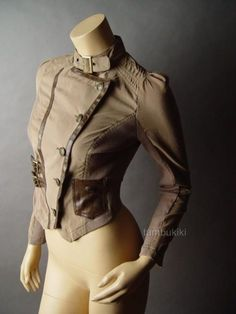 STEAMPUNK Military Captain Cavalry Officer Jacket $28.99