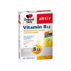 DOPPELHERZ Vitamin B12 Tabletten 90St Trägt zur Verringerung von Müdigkeit und Erschöpfung bei   #vegan #erschöpfung #gesundheit #health #b12 #vitamine