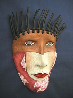 """""""Off the Top of the Head"""" by Peggy Bjerkan. http://www.maskwoman.com/"""