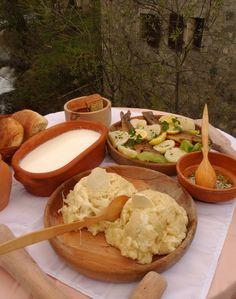 Kacamak (pronounced Kachamak) is a cornmeal porridge that's served throughout the Balkans.