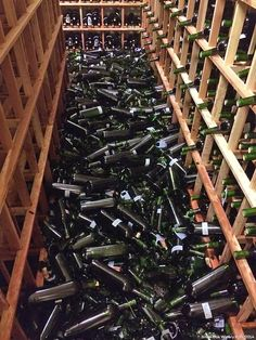 Images from the earthquake in Napa are a friendly reminder that you might want to earthquake proof your wine racks. Find out more about protecting your wine from disasters. Sangria, Wine Folly, Wine Vineyards, Wine Education, Wine Fridge, In Vino Veritas, Italian Wine, Wine Storage, Wine Drinks