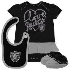 Infant Oakland Raiders Black Fan-Atic Creeper e227eb462