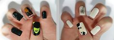 "Even more Wicked Nails. Elphaba & Glinda, w/ a ""guh"""