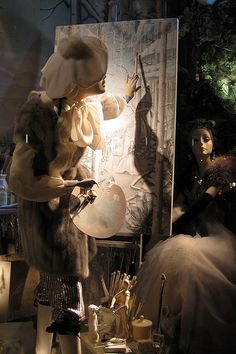 NYC: Bergdofr Goodman's 2008 Holiday window display - Calendar Girls - Winter, via Flickr.
