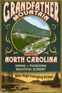Vintage Grandfather Mountain Poster
