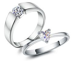 Matching Engagement Rings for Him and Her
