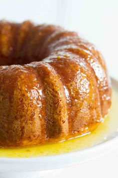 Moist and delicious, this Orange Glazed Bundt Cake starts with an easy citrus bundt cake that is covered in a sticky, sweet orange glaze. This cake is always a hit! Food Cakes, Mini Cakes, Cupcake Cakes, Bundt Cakes, Cupcakes, Just Desserts, Dessert Recipes, Snack Recipes, Orange Bundt Cake
