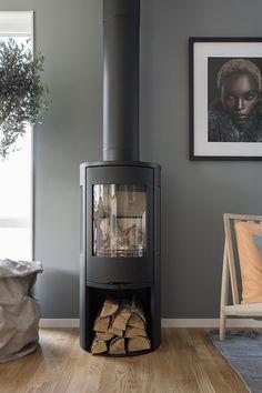 Ideas For Living Room Scandinavian Fireplace Wood Burner Grey Interior Paint, Interior Desing, Interior Inspiration, Pastel Interior, Yellow Interior, Interior Office, Interior Painting, Nordic Interior, Cafe Interior