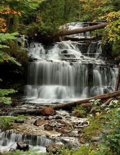 Wagman Falls on the edge of Hiawatha Naional Forest in Munising, Michigan; photo by .Debby Oliver